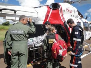 SAMU e Bombeiros Transferem Paciente TP com Queimaduras 6