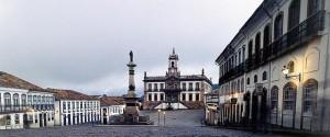 Praça Tirandentes em Ouro Preto
