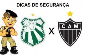 Caldense x Atlético Mineiro Dicas de Segurança da PM 1