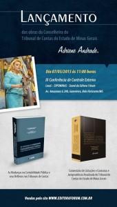 Conselheira do TCEMG Adriene Andrade lança livros em BH 1
