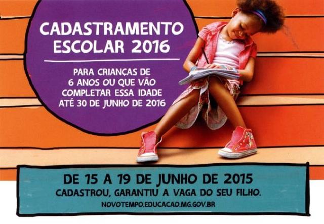 Cadastramento Escolar 2016