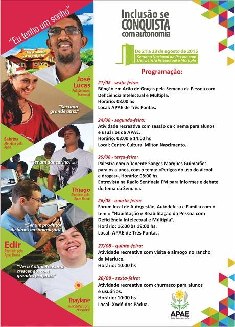 Apae de Três Pontas Semana Nacional da Pessoa com  Deficiência Intelectual e Múltipla 1