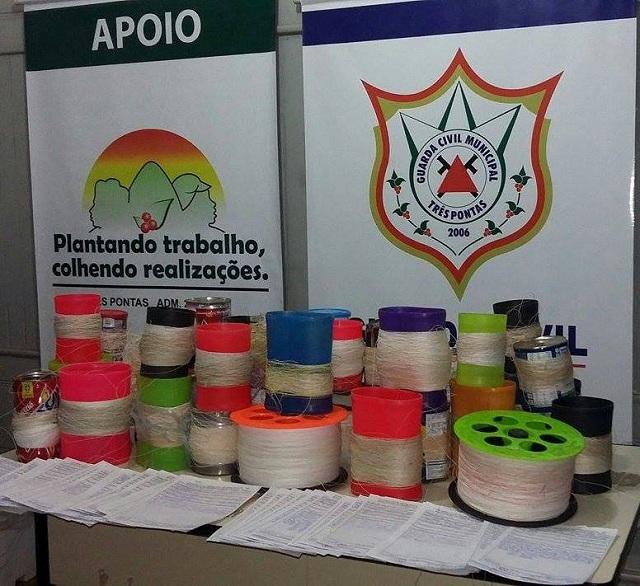 Guarda Civil Municipal de Três Pontas realiza Semana Nacional do Trânsito Cerol e Linha Chilena 3
