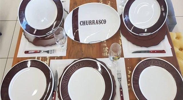 Jogo churrasco porcelana Dia das Mães Clube da Casa Nova Era