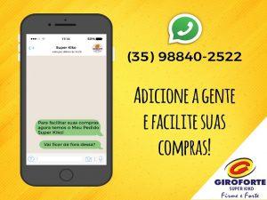Super Kiko Supermercado Três Pontas WhatsApp