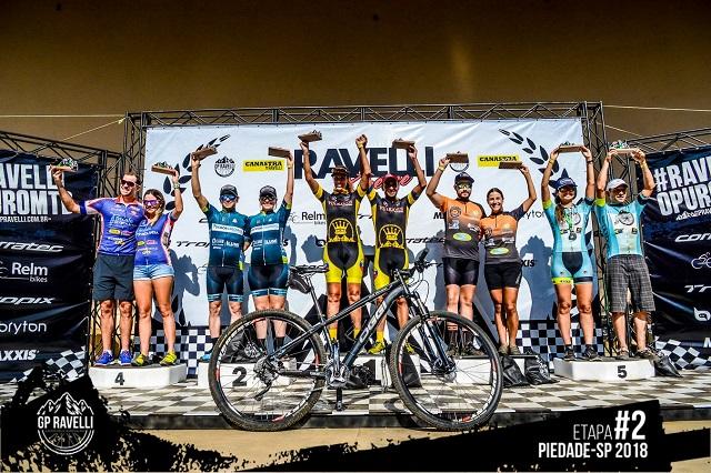 Ciclistas de Três Pontas em GP Ravelli Pódio