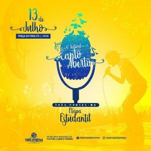 Cultura Três Pontas Música Festival Canto Aberto