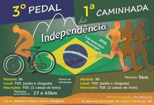 Imagem Cartaz TOC Pedal Independência Caminhada da Independência