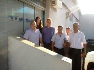 Diretores da Acai TP em visita a empresa Thega Empresário do Ano