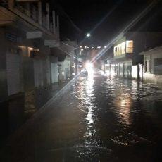Rua alagada em Ilicínea Sul de Minas