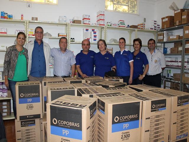 Hospital Três Pontas e Rotary Club Caixa Copo Descartável